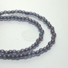3mm Round Transparent Amethyst Luster