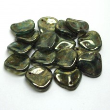 14/13mm Rose Petal Aqua Bronze Picasso