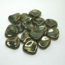 14/13mm Rose Petal Milky Peridot Bronze Picasso