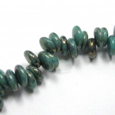 6mm Lentils Turquoise-Bronze Picasso