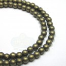 4mm Round Metallic Suede-Gold