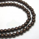 4mm Round Matte-Dark Bronze