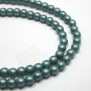 4mm Round Metallic Suede-Lt. Green