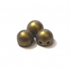 7mm Cabochon Metallic Suede Gold