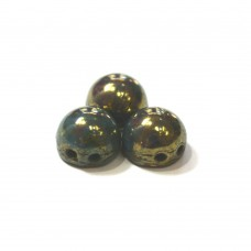 7mm Cabochon Persian Turquoise Bronze Picasso