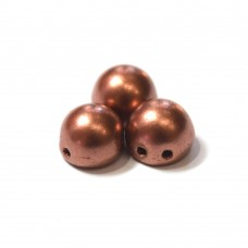 7mm Cabochon Matte Metallic Bronze Copper