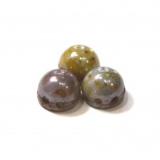 7mm Cabochon Opaque Luster Green