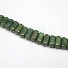 3x6mm Brick Czech Mate Honeydew-Moon Dust