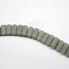 3x6mm Brick Czech Mate Ashen Gray-Matte