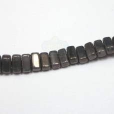 3x6mm Brick Czech Mate Ashen Gray-Moon Dust