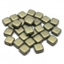 6mm Czech Mate Metallic Suede-Gold