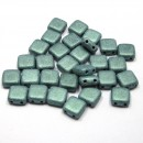 6mm Czech Mate Metallic Suede-Light Green