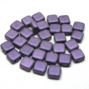 6mm Czech Mate Metallic Suede-Purple