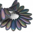 5/16mm Two Hole Dagger Matte Iris Purple