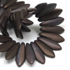 5/16mm Two Hole Dagger Chocolate Brown-Matte Bronze Vega