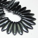 5/16mm Two Hole Dagger Hematite