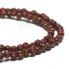 3mm Melon Opaque Red Bronze Picasso