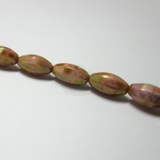 8x16mm Faceted Oval Rose Peach Stone Luster
