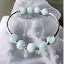 Stretchy Bracelet Kit Green Angelite