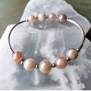 Stretchy Bracelet Kit Pink Moonstone Luster