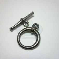 Gunmetal Plain Large Tapered Toggle