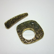 Gold Large Spiral Toggle