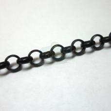 Matte Black 6mm Rolo Chain