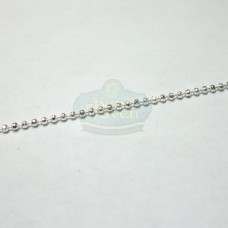 Silver 1mm Diamond Cut