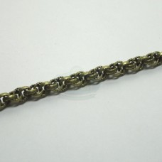 Antique Brass 4mm Spiral Rope Chain