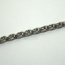 Antique Silver 4mm Spiral Rope Chain