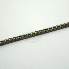 Antique Brass 3mm Wheat Chain