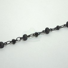 Black Small Chain with Beads