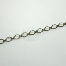 Antique Brass 4x3mm Flat Football Link Chain