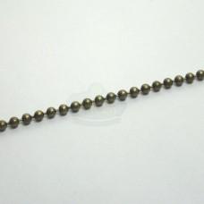 2.3mm Antique Brass Ball Chain