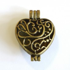 Antique Brass Large Heart Diffuser