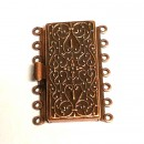 7 Strand Box Clasp Antique Copper
