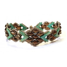 Snakeskin Bronze and Turquoise