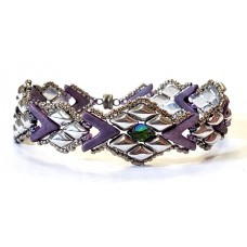 Snakeskin Silver and Purple